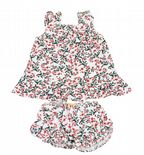Wholesale Ex Chainstore Baby Girls Dress Outfit Set Green & Red White